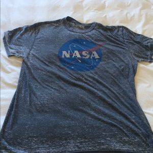 NASA Fifth Sun Gray Burnout short sleeve tee